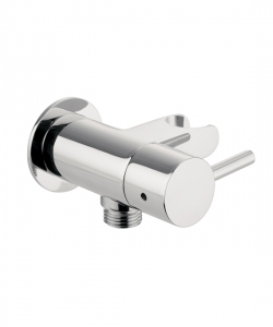 WALL OUTLET WITH HOSE ATTACHMENT AND SHUT OFF VALVE