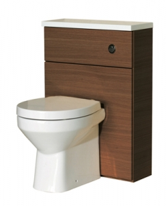 WC Unit with White Gelcast Worktop 60