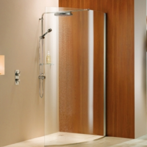 WET ROOM PANELS: CURVED PANEL WITH DELUGE SHOWER PACK
