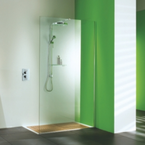 WET ROOM PANELS: STRAIGHT PANEL WITH DELUGE SHOWER PACK