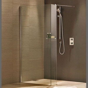 WET ROOM WALK IN: SINGLE PANEL WITH RETURN AND SIDE PANEL