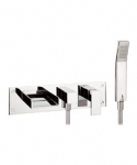 WATER SQUARE BATH 3 HOLE SET WITH KIT & DIVERTER
