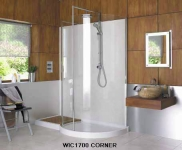 1700 Curved Walk-In Shower Enclosure
