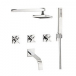 ALVERO BATH SHOWER MIXER 5 HOLE SET
