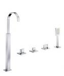 BASE BATH 4 HOLE SET WITH FLOOR STANDING SPOUT