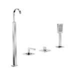 EGON BATH 3 HOLE SET WITH FLOOR STANDING SPOUT