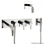 DESIGN BATH SHOWER MIXER WITH FIXED HEAD AND KIT