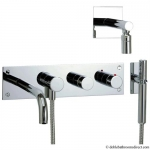DESIGN BATH THERMOSTATIC SHOWER MIXER WITH FIXED HEAD AND KIT 4 HOLE