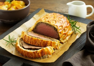 Homemade Beef Wellington Log