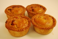 Four Beef & Onion Pies