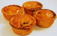Four Pork & Mushy Peas Pies