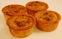 Four Pork & Stuffing Pies