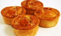 4 Homemade Pork, Apple & Black Pudding Pies