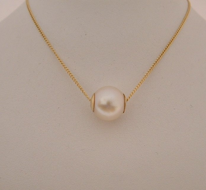 Freshwater pearl slider pendant on 9ct yellow gold chain my freshwater pearl slider pendant on 9ct yellow gold chain aloadofball Choice Image