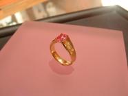 HANDMADE PINK SAPPHIRE AND DIAMOND RING