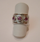 Pink Sapphire 18ct White Gold ring