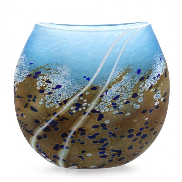 Beach Small Flat Vase Martin Andrew Glass Vases