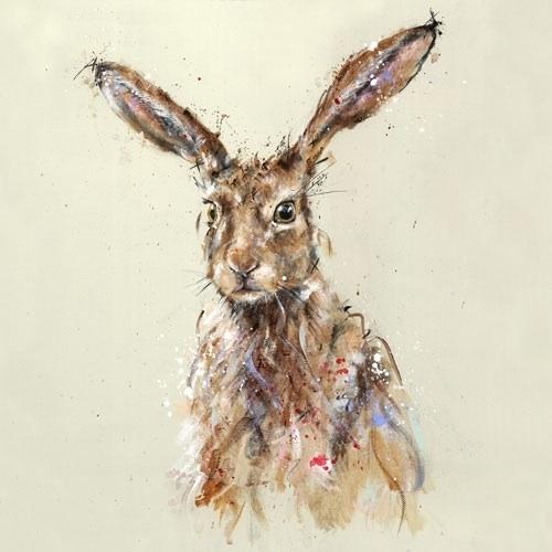 Brown Hare Print Nicole Fenwick Nicole Fenwick Fenwick