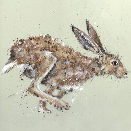 Brown Hare Running Nicole Fenwick Nicole Fenwick