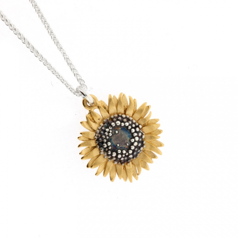 Medium Sunflower Pendant Mcmaster Amp Tingley Necklaces