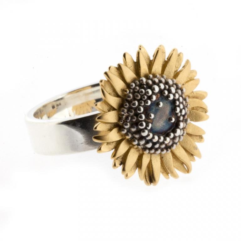 Medium Sunflower Ring Mcmaster Amp Tingley Rings Fenwick