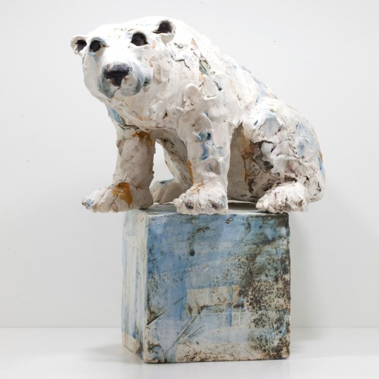 Polar Bear On Box Christine Cummings Ceramic Fenwick