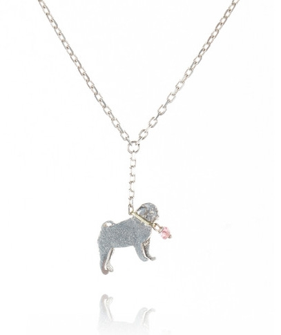 Pug On A Lead Necklace Amanda Coleman Necklaces