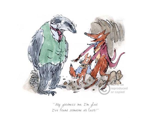 Quentin Blake Roald Dahl Fantastic Mr Fox Quentin