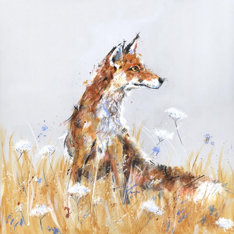Wildflower Fox Nicole Fenwick Original Paintings
