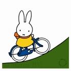 Miffy on a bike