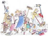 Quentin Blake - Cleaning up the House