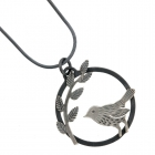 Bird and Leaves Pendant