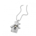 Bird house - necklace