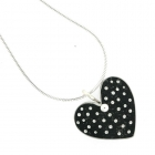 Black Polka Necklace