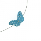 Blue Spot Butterfly Necklace