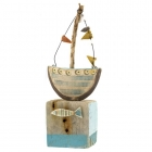 Ceramic & Driftwood Boat