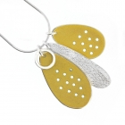 Cluster Necklace - Dull Yellow
