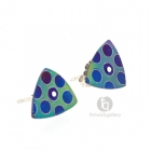 Curved Triangular Bubble Studs