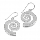 DREKI LARGE SPIRAL WAVE DROP EARRINGS
