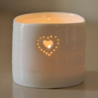 Double Heart mini tealight holder