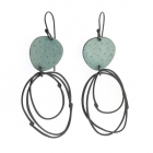 Flotsam Earrings Blue & Oxidised Silver