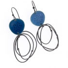 Flotsam Earrings Deep Blue