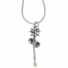 Flower & Dew Drop Necklace