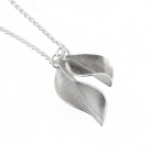 Forged Leaf Pendant