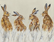 Four Winter Hares