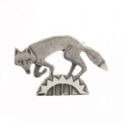 Fox on the hill brooch
