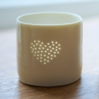 Full Heart mini tealight holder
