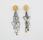 GOLD PLATED FLOTSAM EARRINGS