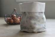 Grey Hare Linen Pot bag