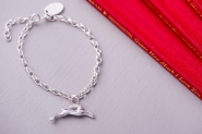 Guess How Much I Love You leaping hare charm bracelet